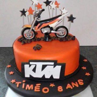 Moto cross KTM en pate a sucre