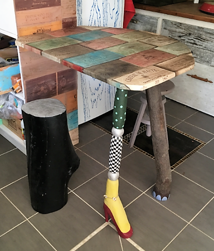 table de cuisine fantaisiste