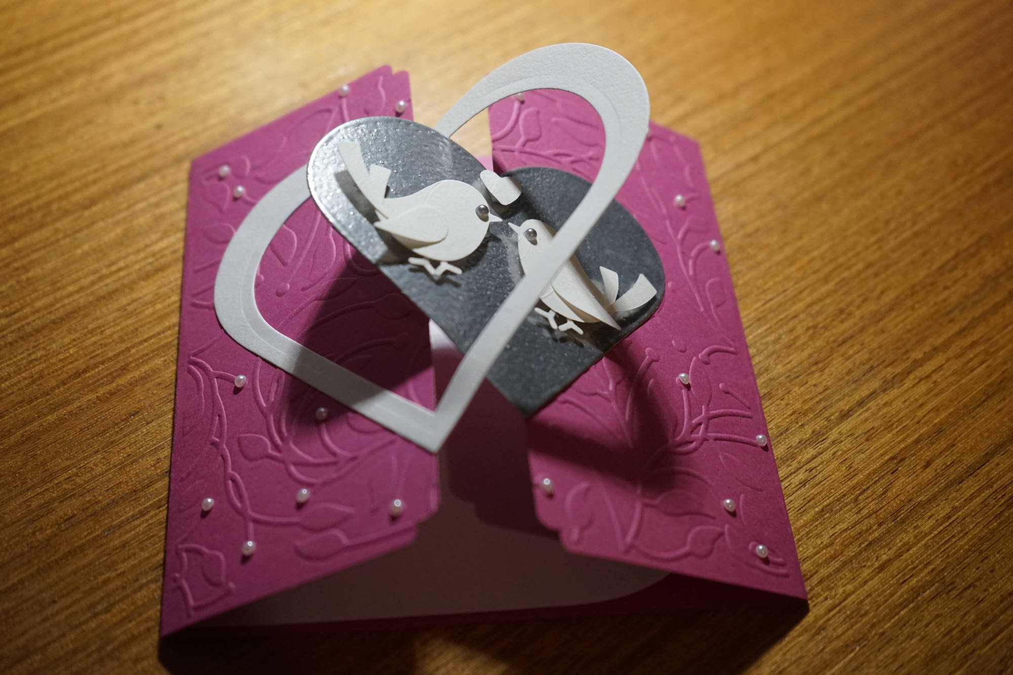 carte félicitation mariage coeurs imbriqués