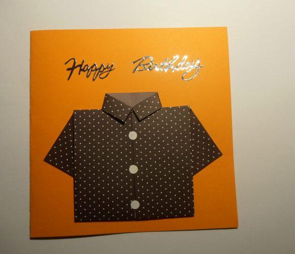 carte fête des pères : chemise en origami