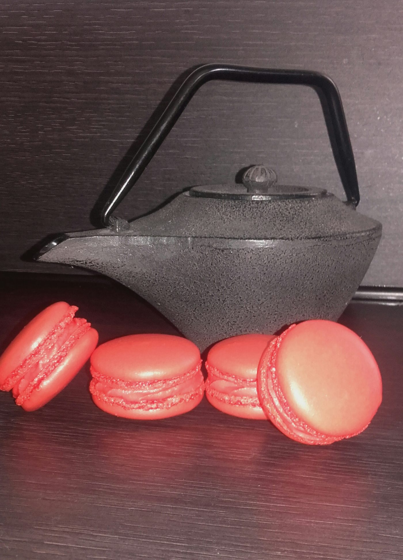 Macarons pomme d'amour