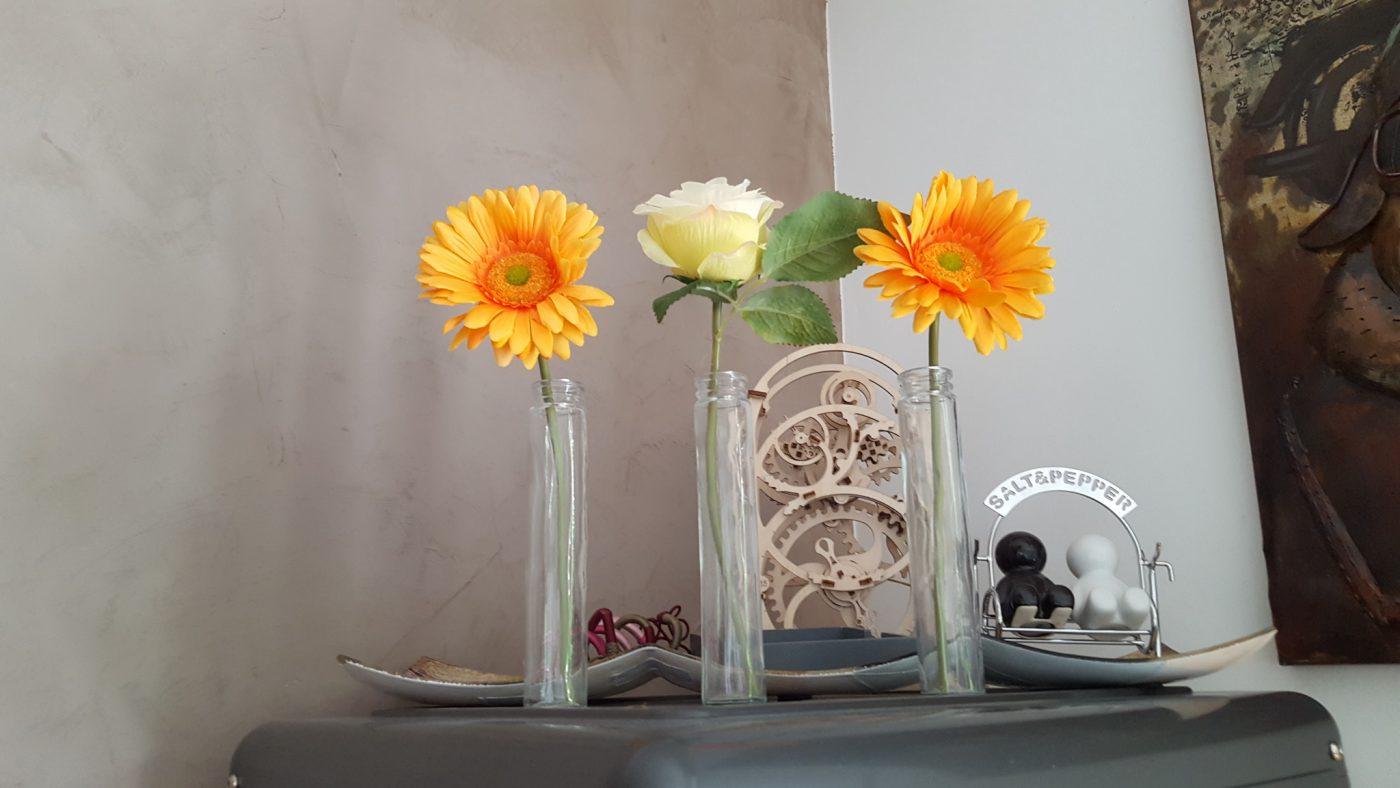 J'ai testé pour vous 3 mini vases verre h16.5 dia3