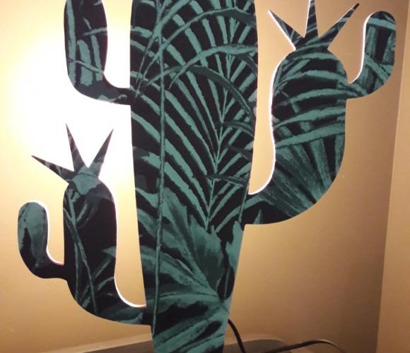 Lampe à poser CACTUS (réalisable en atelier)