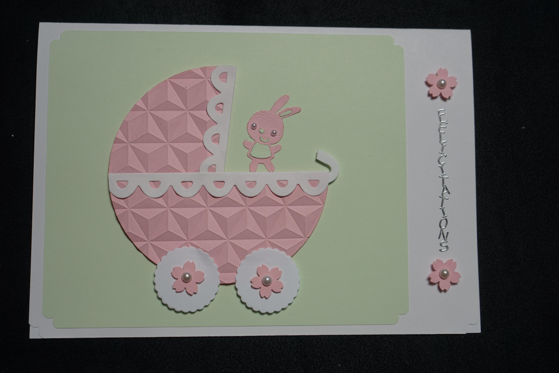 cartes félicitation naissances : landeau