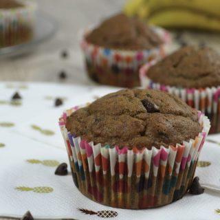 Mes muffins à la peau de banane