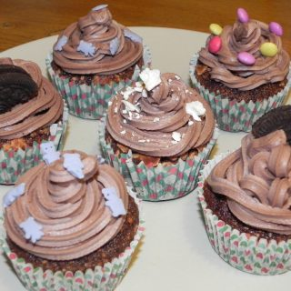 Cupcakes au Nesquick et à la meringue