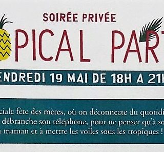 Vente privée du vendredi 19 mai 2017 de 18H à 21H