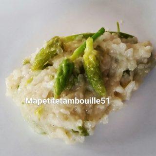 risotto au parmesan et aux asperges des bois