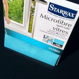 J'ai testé pour vous la Microfibre spéciale vitres de chez Starwax