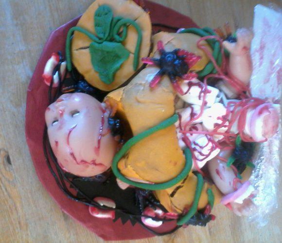 Gâteau Soirée pyjama party halloween pour se faire peur