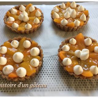 Tartelettes abricot/basilic huile d'olive sans cuisson