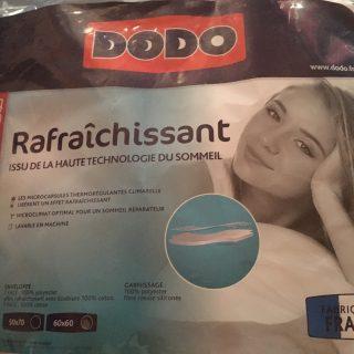 J'ai testé pour vous oreiller rafraîchissant Dodo