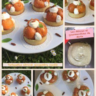 Mes tartelettes abricot gingembre confit