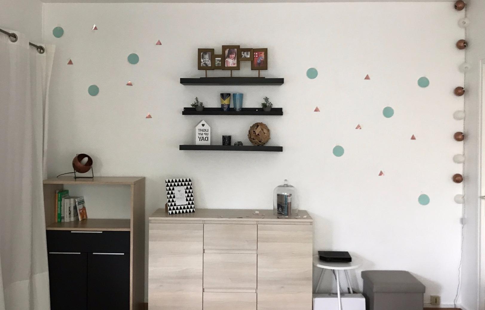 J'ai testé pour vous les stickers de mur géométriques de Kiub !
