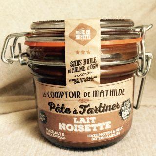 J'ai testé pour vous la pâte à tartiner (lait noisette) le comptoir de Mathilde