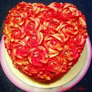 Rose cake Coeur ❤️