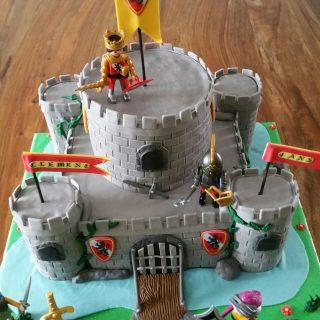 Gâteau château fort.