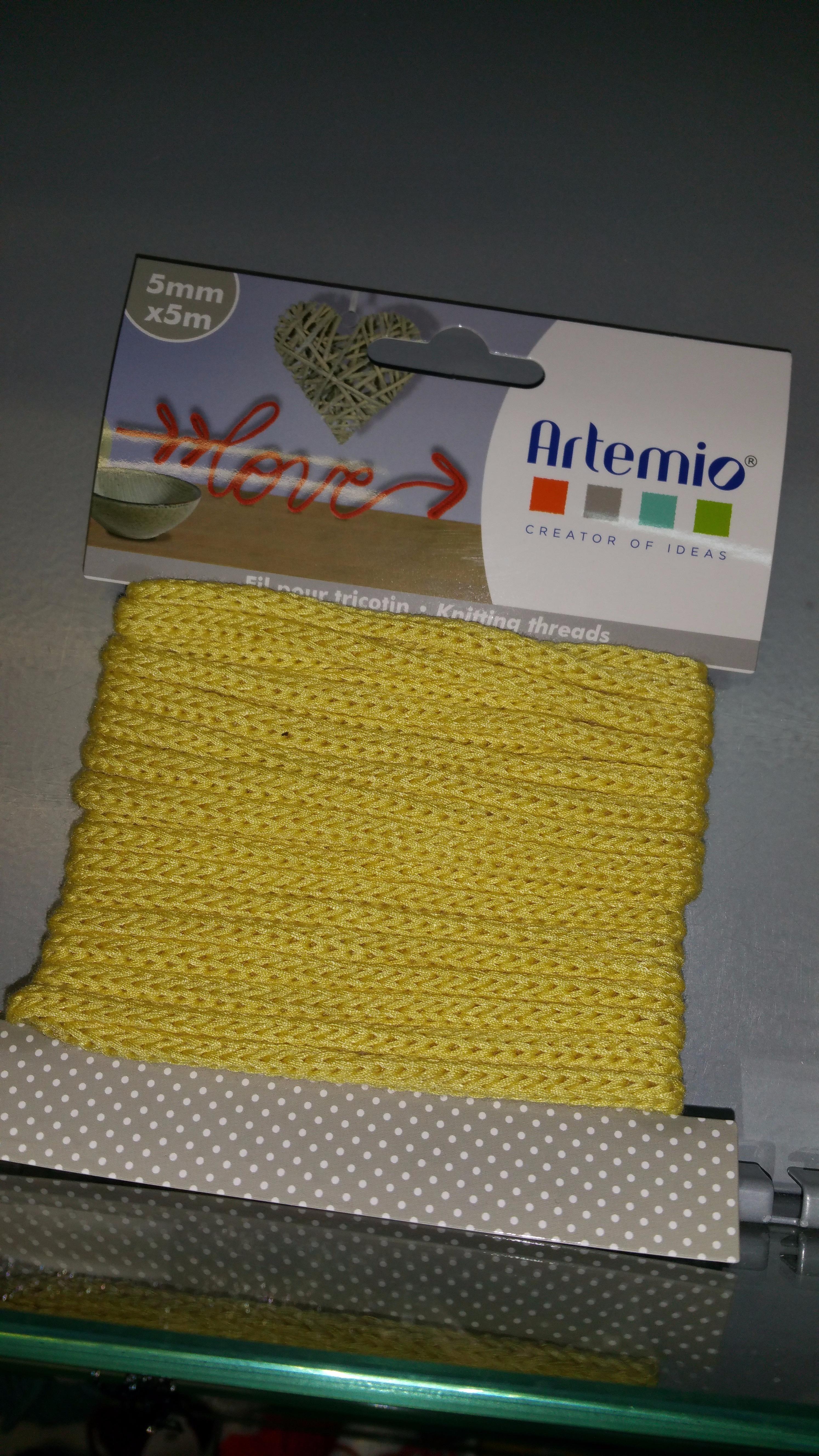 J'ai testé pour vous le fil pour tricotin de Artemio