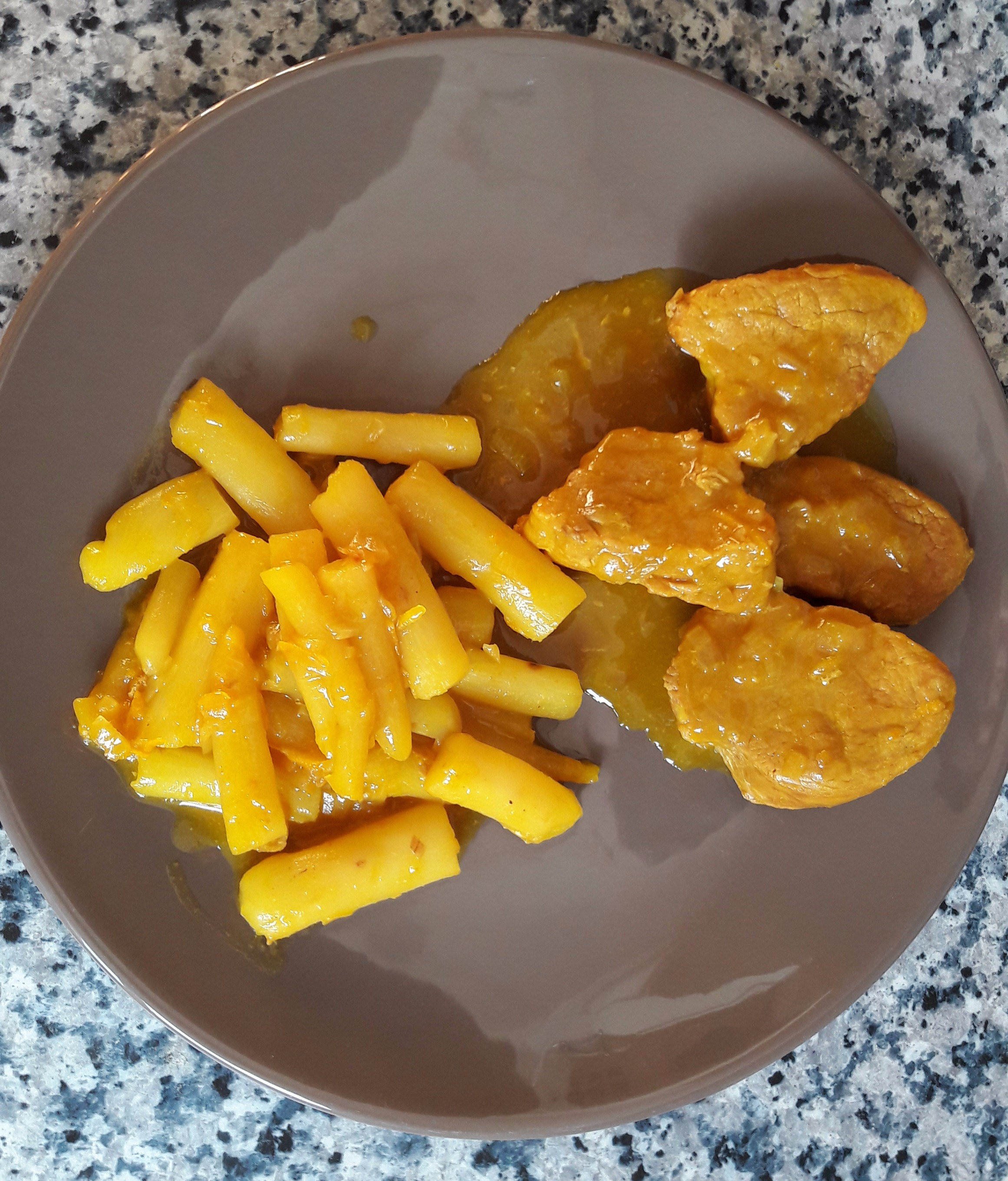 Filet mignon au curcuma et orange