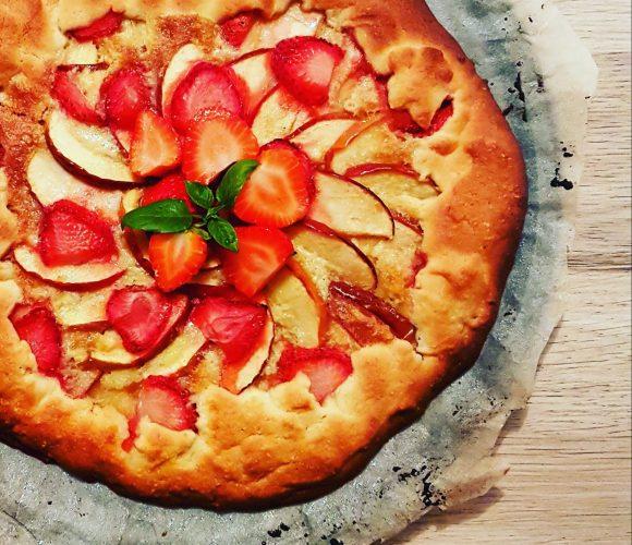 Ma tarte rustique pommes-fraises de Sandrine Fraise & Basilic
