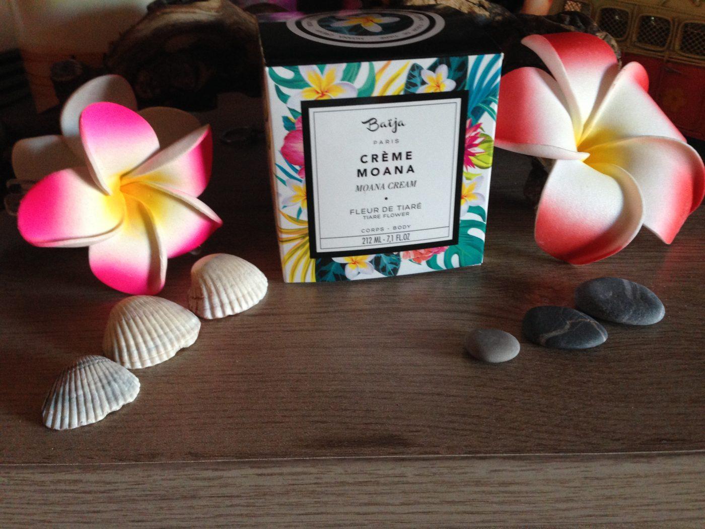 J'ai testé pour vous la crème MOANA à la fleur de Tiaré