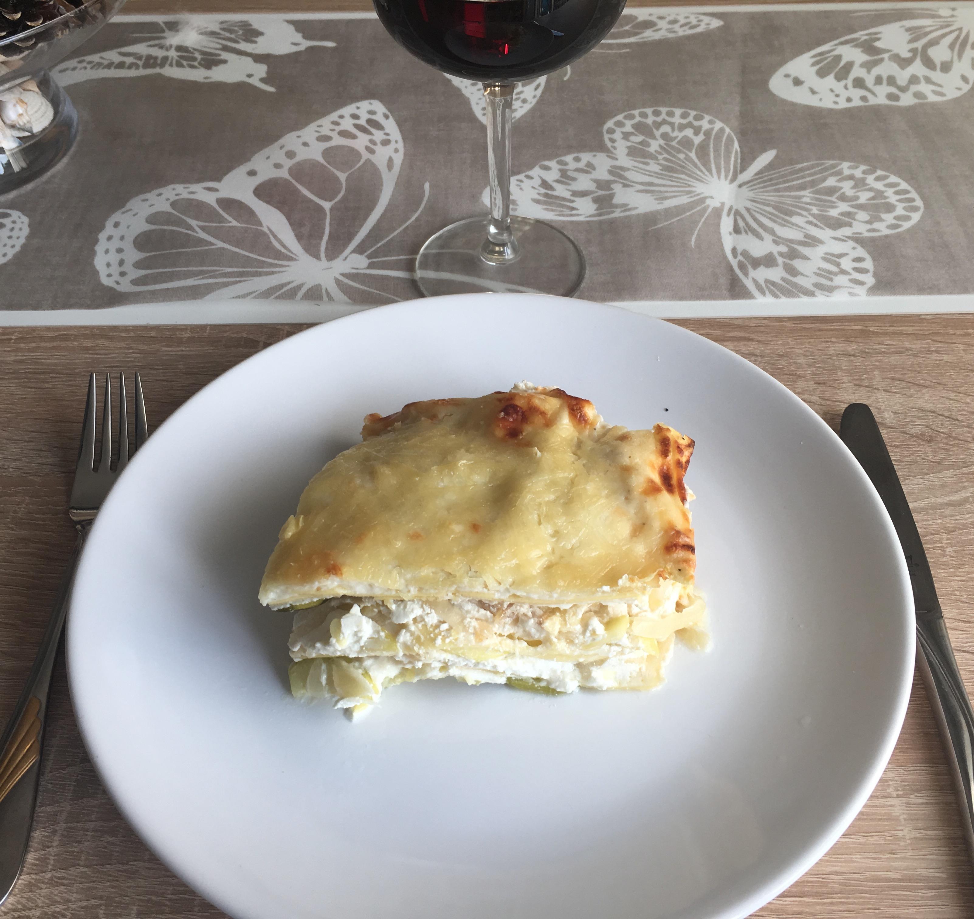 Lasagnes de courgettes et de chèvre frais