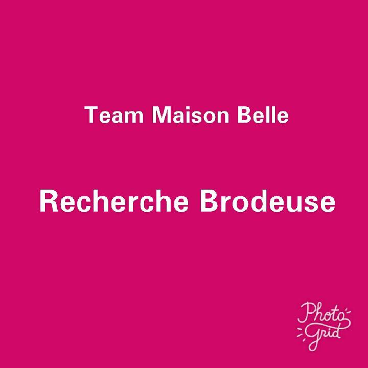 AVIS DE RECHERCHE : Madame la brodeuse, Monsieur le brodeur.... cet article est pour vous!!!