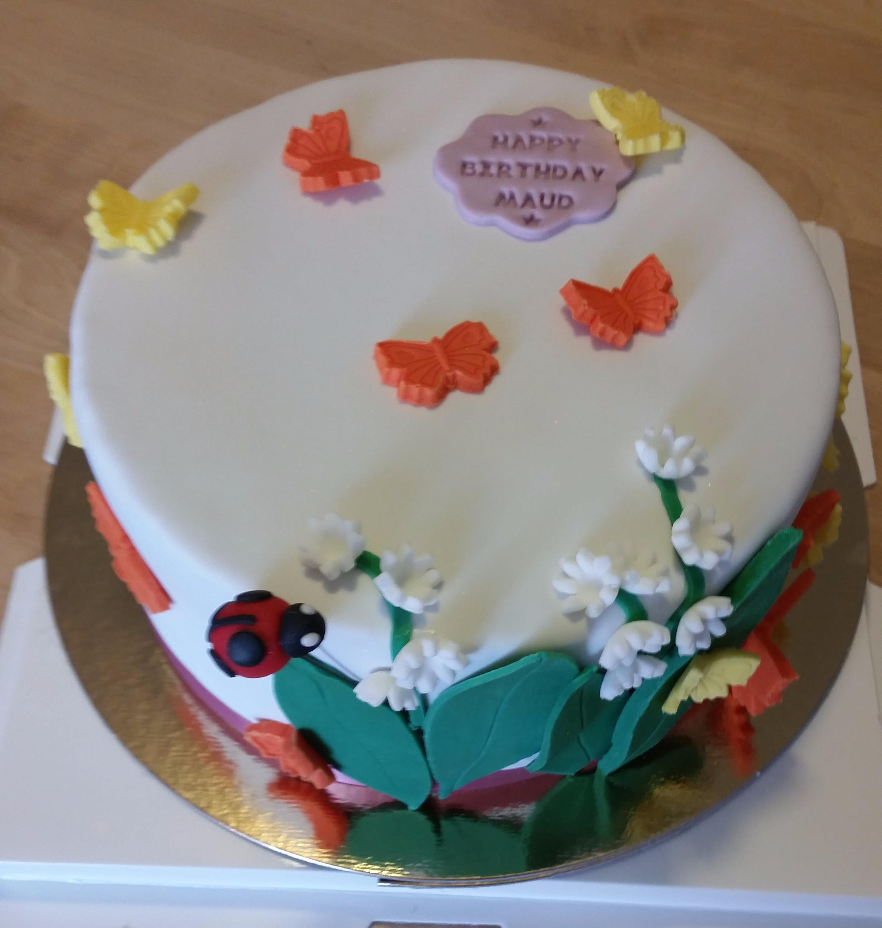 Gâteau du printemps pour ma super copine!!