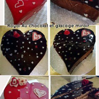 Cœur royal au chocolat glacage miroir