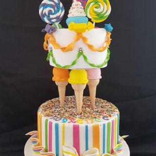 Gravity cake icecream