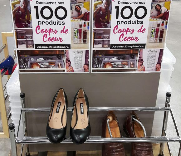 J'ai testé pour vous l'étagère à chaussures chrome Zeller