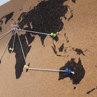 Mémo board liège mapmonde noire