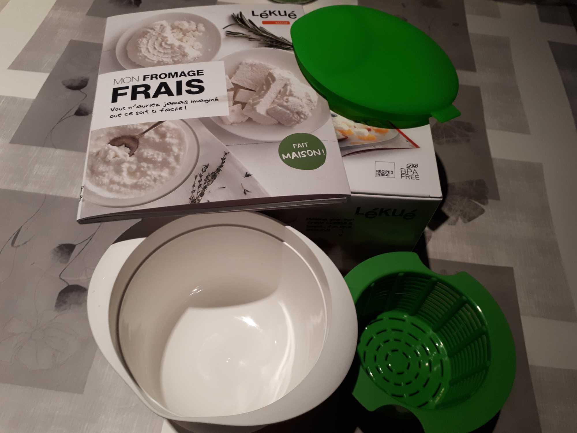 J'ai testé pour vous le kit Lékué - La Magie du Fromage Frais fait maison -