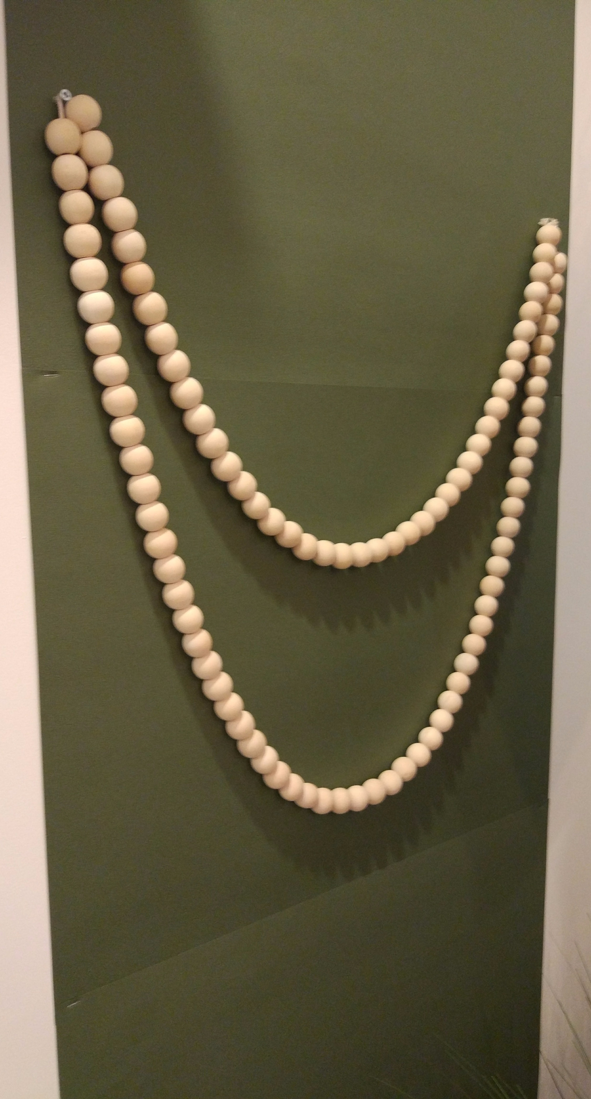 Guirlande perle de bois