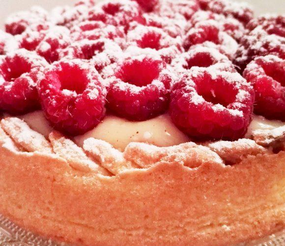Tarte aux Framboises Crème vanillée