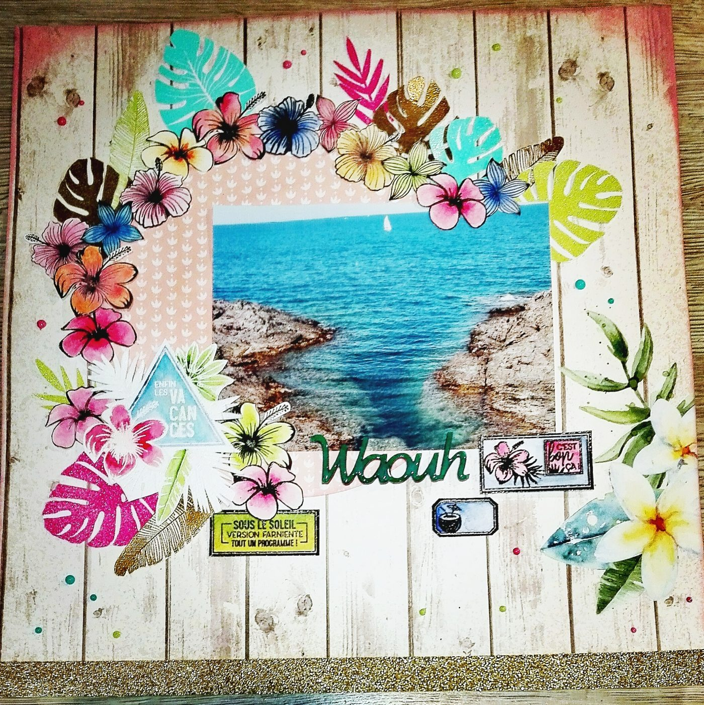 Une pages de scrapbooking