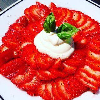 Mon carpaccio fraise