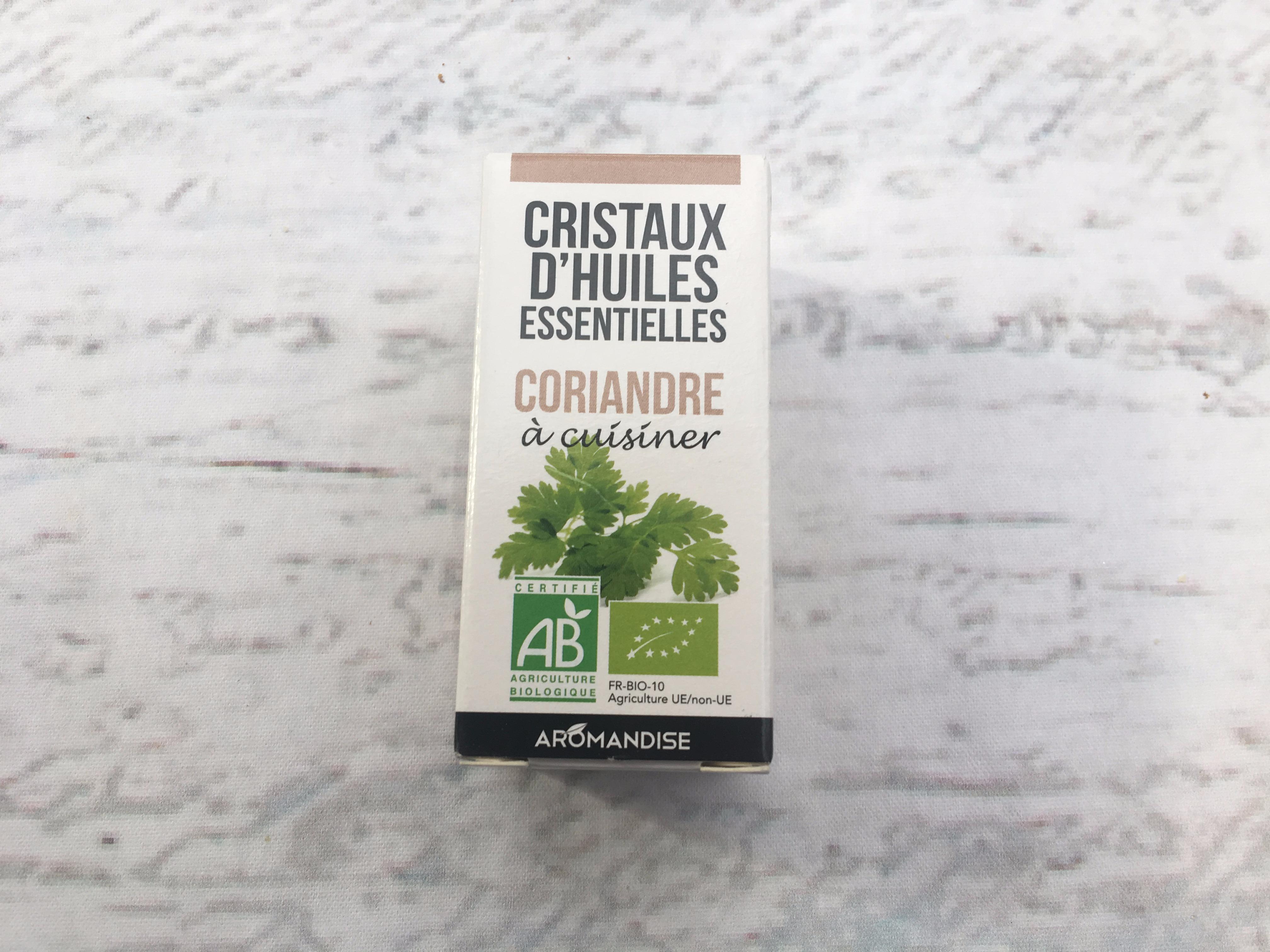 J'ai testé pour vous les cristaux d'huile essentielle - Coriandre