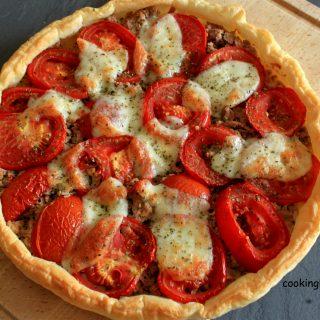 Tarte au Thon/Moutarde/tomate et mozzarella