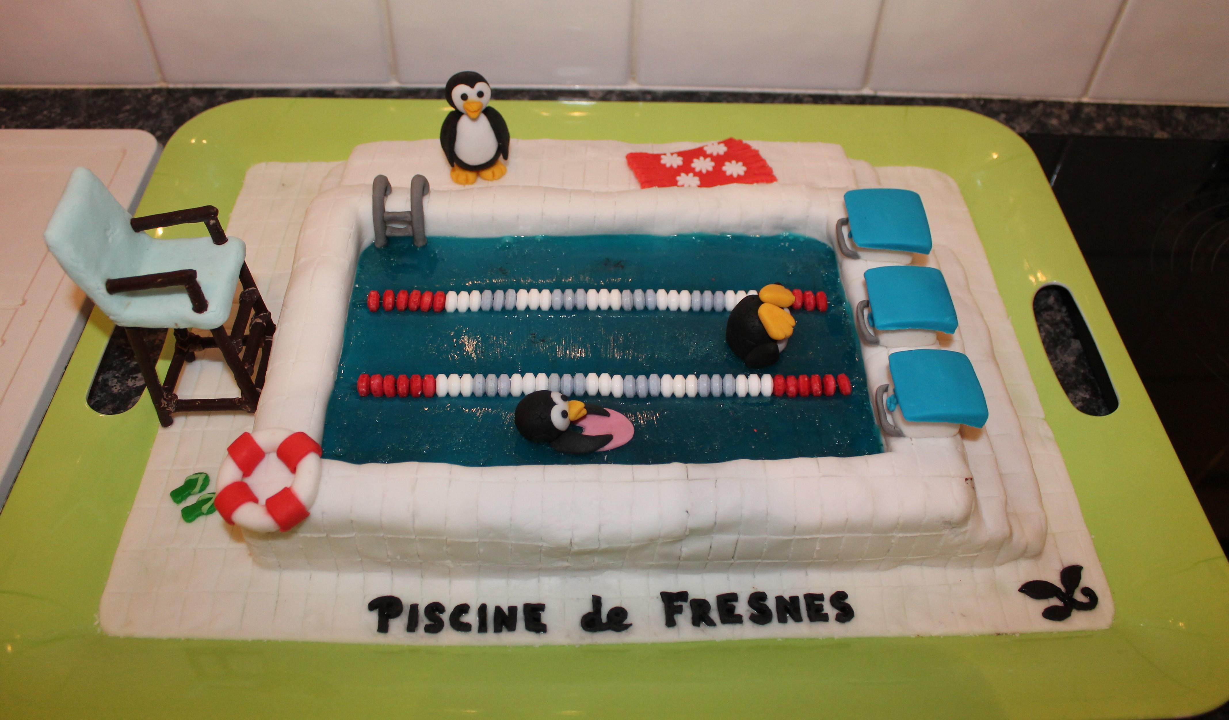Les pingouins à la piscine