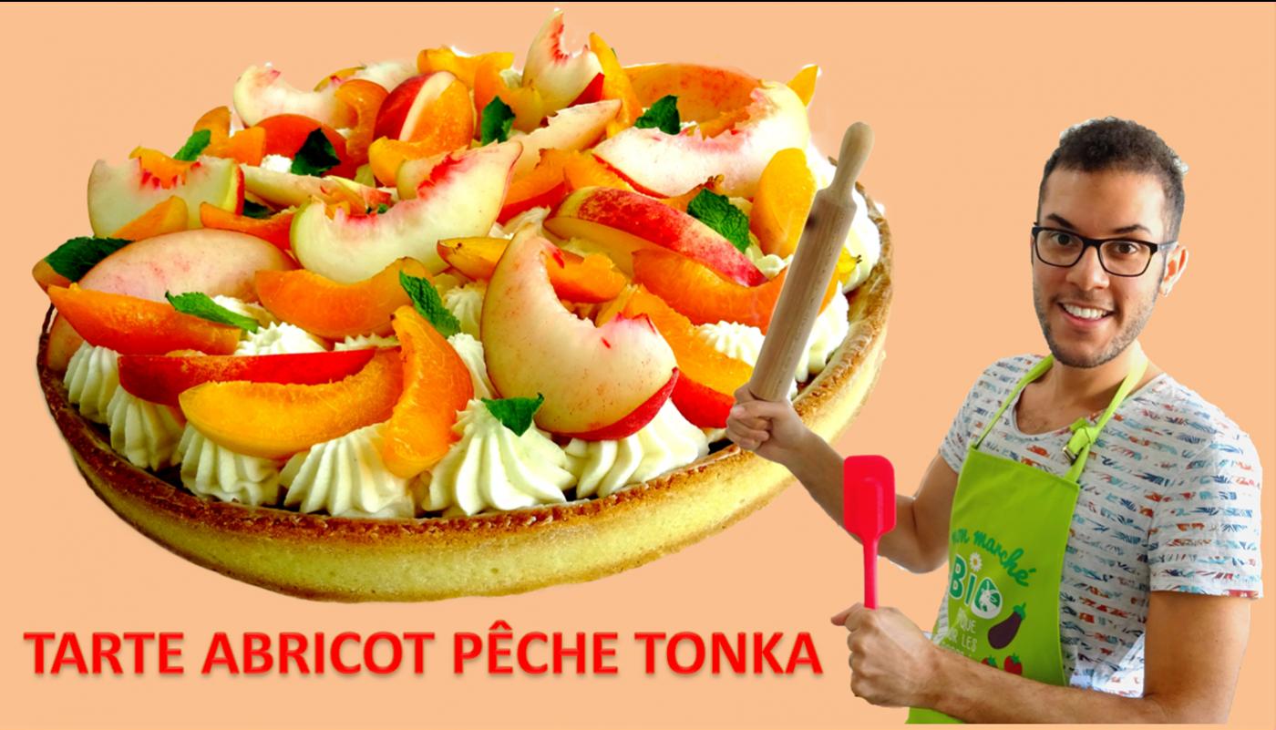 Ma tarte abricot pêche tonka