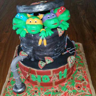 Gâteau Tortue Ninja