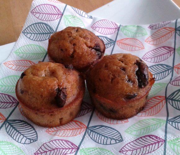 Muffins poire-chocolat