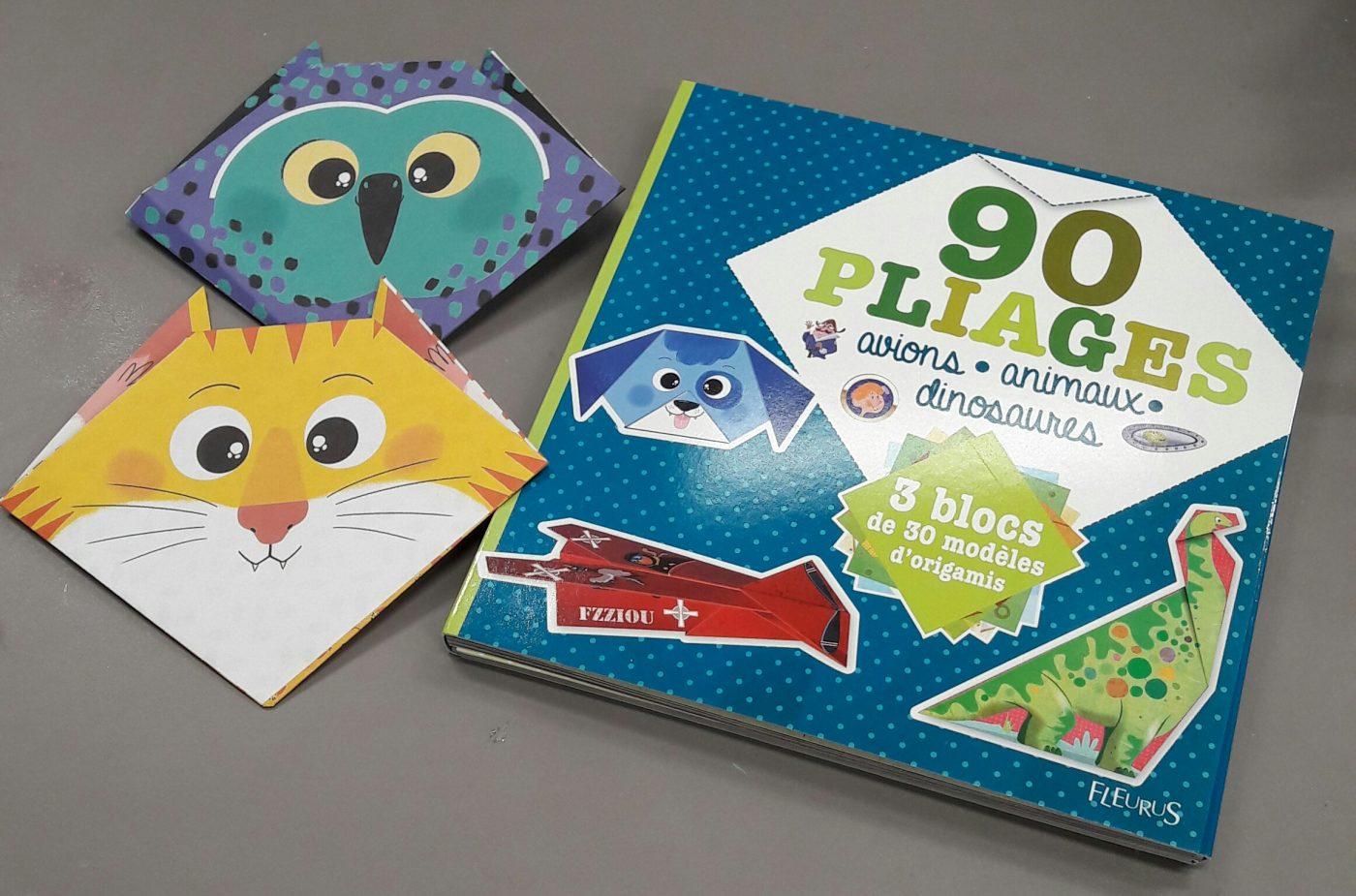J'ai testé pour vous le livre 90 pliages avions - animaux - dinosaures