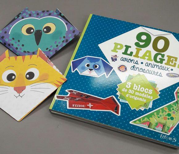 J'ai testé pour vous le livre 90 pliages avions – animaux – dinosaures