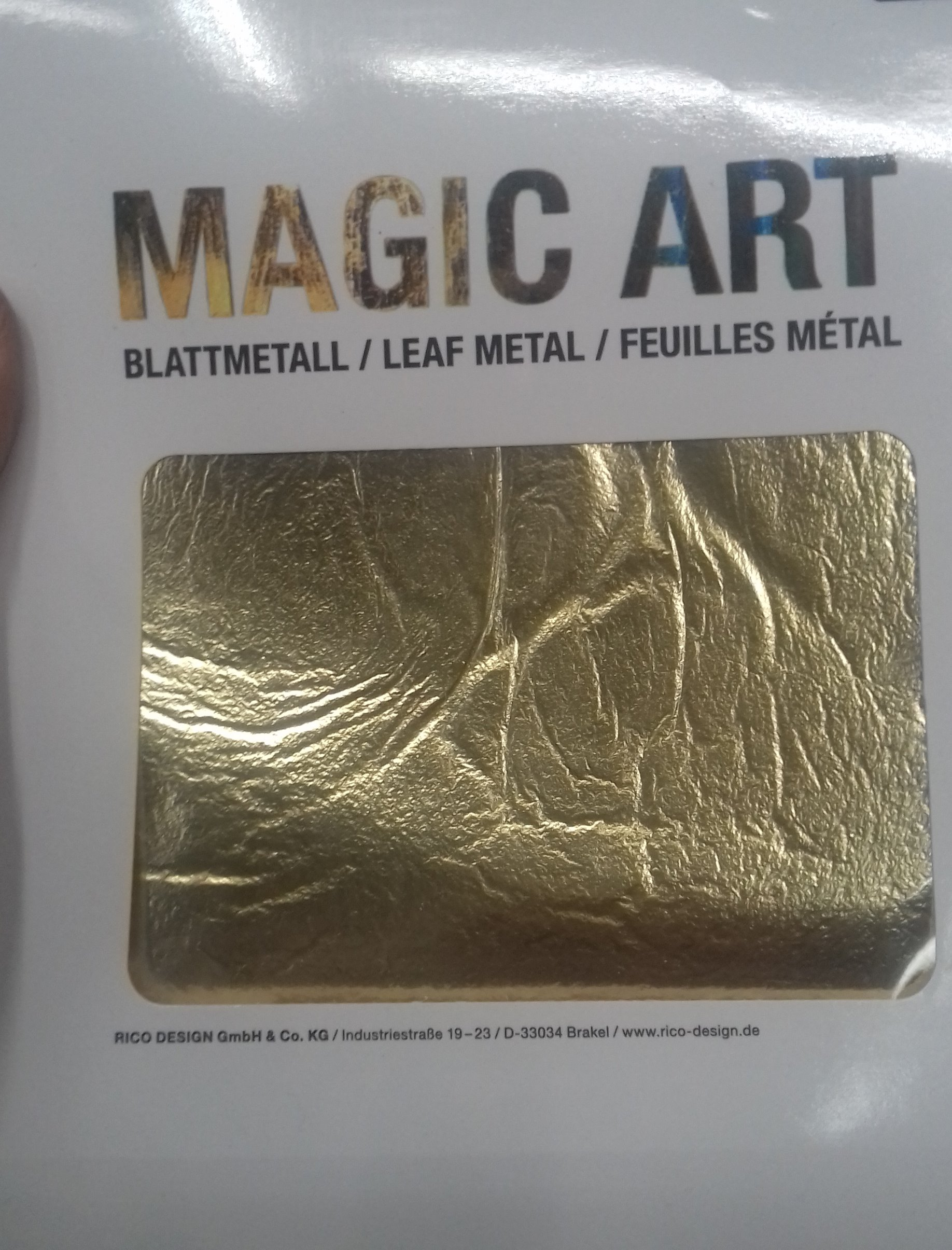 J'ai testé pour vous feuilles à dorer Magic Art