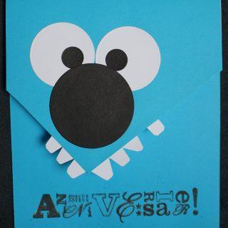 Carte pour enfant : monstre d'Halloween