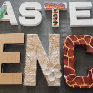 Atelier : 5 lettres 3D à customiser !