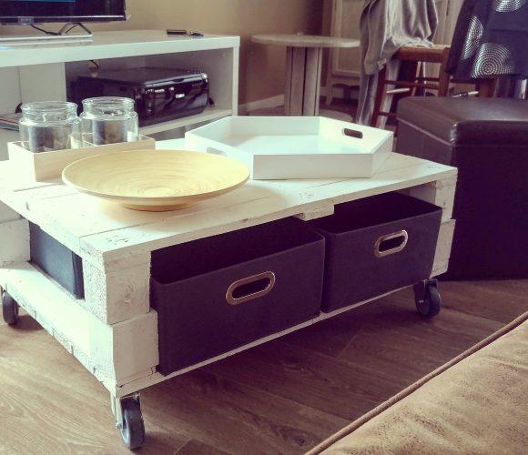 TABLE BASSE en palette Home Made