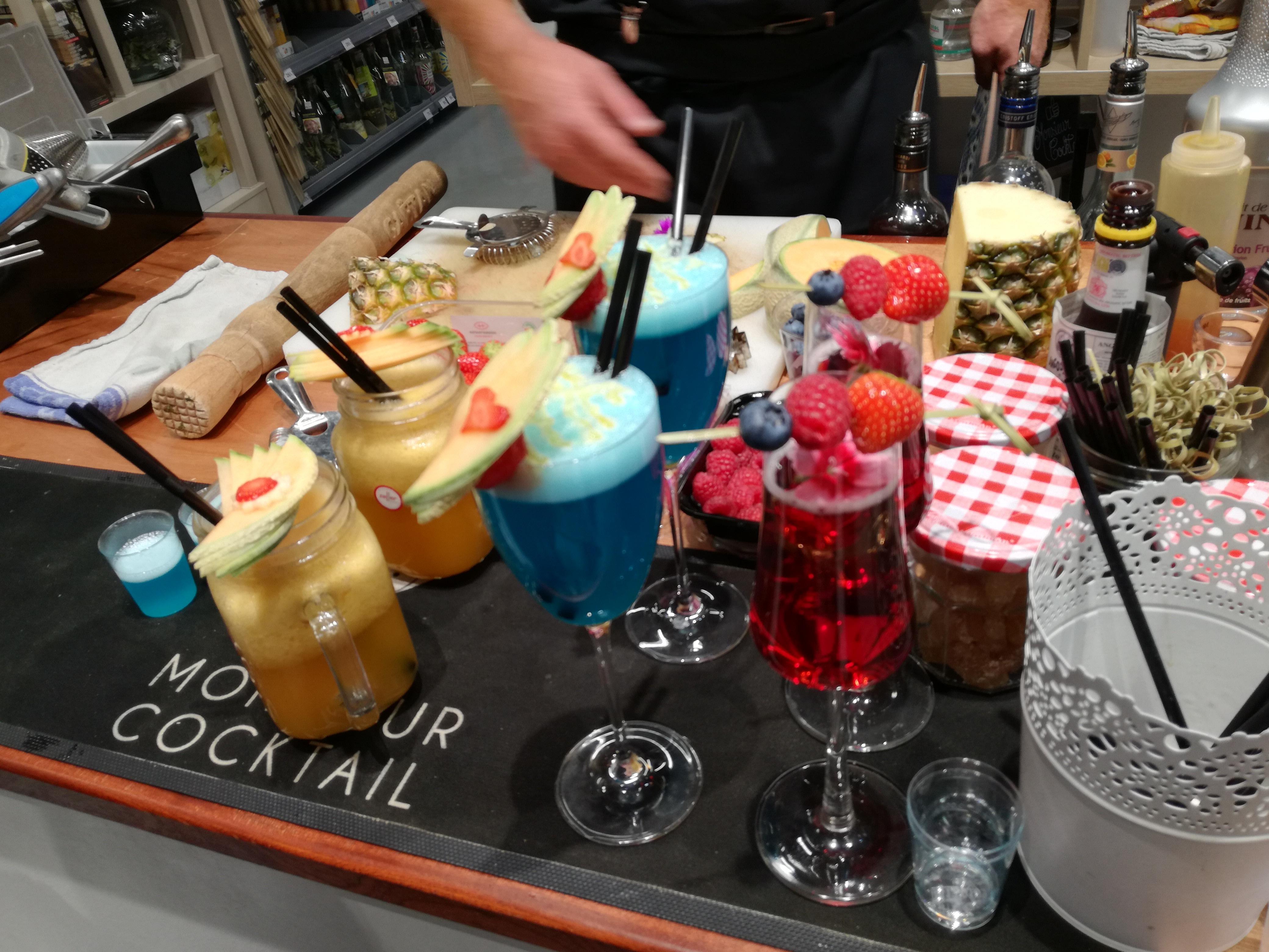 Les cocktails à la soirée vente privée Zôdio